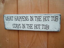 Hot tub fun plaque shabby vintage chic sign christmas gift idea