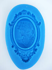 Silicone Mould CAMEO WITH A FRAME Sugarcraft Fondant / fimo mold