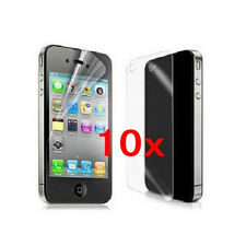 10x High Front and back CLEAR Screen Protector Cover for Apple iPhone 4 4S 4G