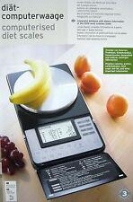Diät - Computerwaage Küchenwaage Waage Diätwaage bis 3000g, mit Datenbank NEU