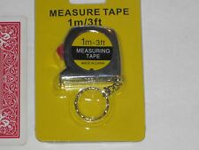"Locking Tape Measure Key Chains - ""GET TWO"" Tiny 3 Ft Small Carpenters Plumbers"
