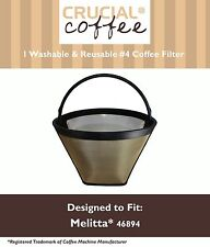 1 Washable #4 Cone Coffee Filter Fits Melitta 46894 10-Cup Thermal Coffeemaker