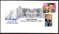 Elvis Presley #2721 Chesapeake Cachet COMBO FDC with Cole Porter UA (LOT 314)