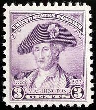 1932 3c George Washington, Deep Violet, Peale Scott 708 Mint F/VF NH