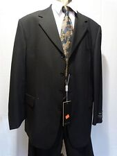 Men's 100% Wool Four Button Suit, 50 L/ 42W, Blue,NWT