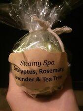 Homemade Bath Bombs- Steamy Spa- Eucalyptus, Rosemary, Lavender & Tea Tree Oils