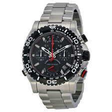 Men's Bulova 98B212 Precisionist Chronograph Black Dial Stainless Steel Watch