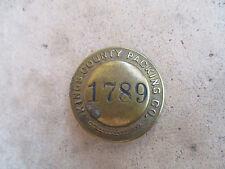 Vintage 1940 Kings County Packing California Employee ID Badge Pin Trucking ?