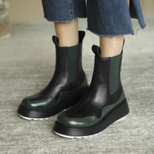 OccidentWomens Punk Style Round Toes High Quality Low Heels Ankle Boots Shoes