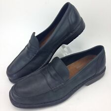 ROCKPORT Penny Loafers Black Leather ADIPRENE SOLE Mens SLIP ON SHOES  size 11.5