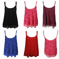 Unbranded Lace Waist Length Strappy, Spaghetti Strap Women's Tops & Shirts