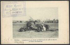 Libya Tripoli postcard used 1912 Italy to USA