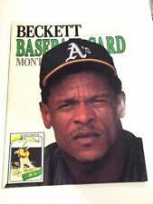 Beckett Baseball Card Monthly Ricky Henderson December 1989 Oakland Athletics