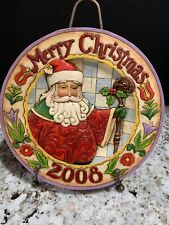 Jim Shore 2008 Season Of Merriment Merry Christmas Plate