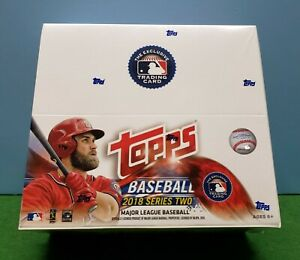 2018 Topps Baseball Series 2 Retail Box Sealed - 24 Packs / 12 Cards per Pack