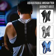 12 lb. Adjustable Weighted Jacket Vest Fitness Waistcoat, Black, Grey & Blue!