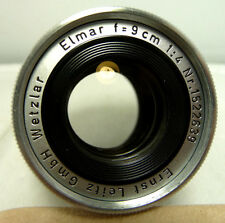 GREAT CONDITION USED LEICA ELMAR 9cm f4 COLLAPSIBLE LENS 4 LEICA M CAMERAS