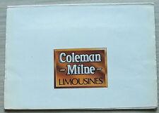 COLEMAN Milne 4 e 6 PORTE Limousine Press Pack foto c1990 4 e 6 PORTE