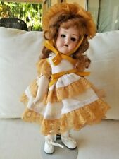 """14"""" bisque head doll marked Germany 8/0 with new jointed body"""