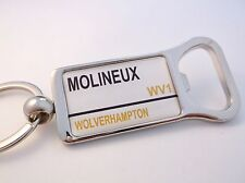 WOLVERHAMPTON STADIUM BADGE STREET SIGN BOTTLE OPENER KEYRING GIFT