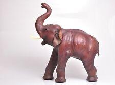 "Extra Large 20""X20"" Leather Antique Vintage Dark Brown Elephant.Nice."