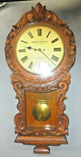 1875 W&H GERMAN DOUBLE CHAIN FUSEE MOVEMENT HIGHLY CARVED WALL CLOCK