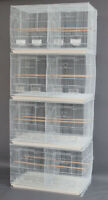 """4 Large 30"""" Breeding Budgies For Aviaries Canaries Bird Cages W/Center Divider"""