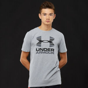 Under Armour Boys Two Tone Logo Shortsleeve T Shirt 1298292 New Size Youth Small