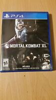 Mortal Kombat XL (Sony PlayStation 4 PS4, 2016) Excellent condition