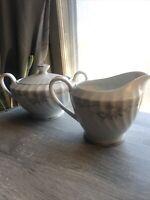 Vintage Gold Standard Japan Genuine Porcelain China Creamer & Sugar Bowl w/ Lid