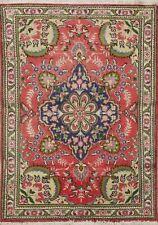 Vintage Floral Tebriz Classic Hand-Made Area Rug Traditional Oriental Carpet 3x5