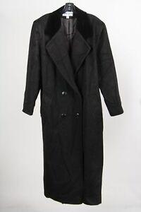 Albert Nipon Boutique Black Wool Women's Double Breasted Vintage Overcoat 12