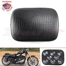 Motorcycle Pillion Passenger Pad Seat 8 Suction Cup Custom Bobber Alligator USA