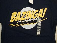 NBC Big Bang Theory Sheldon Bazinga Catchphrase Comedy Navy Blue T Shirt Size M