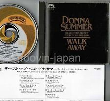 DONNA SUMMER Walk Away JAPAN CD 1985 w/INSERT P33C-50002 West Germany press