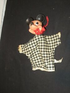 Vintage GUND Mickey Mouse Disney Hand Puppet Toy (Z302)
