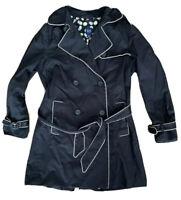 GAP Trench Coat Size Small BLACK   Office Work Smart Mac Rain Jacket