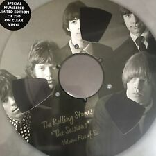 """THE ROLLING STONES """"The Sessions Vol 5 - 10 Inch Clear Vinyl - Ltd Edition - New"""
