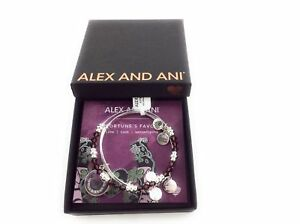 Alex and Ani Fortune's Favor Art Infusion Bracelet Set of 2 Shiny Silver NWTBC