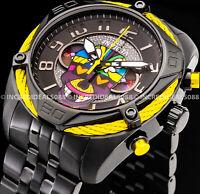 Invicta Mens BRITTO BOLT Chronograph Ltd Ed Black Dial Bracelet SS 47mm Watch