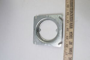 """Raised Square Electrical Box Mud Ring Cover Galvanized Steel 4"""" x 5/8"""" - 25 Pack"""
