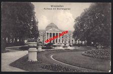 Wiesbaden-Blumengarten Curgarten-1915-Kunstkarte-Feldpost-Darmstadt-Hessen-12