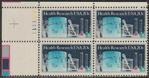 Scott# 2087 - 1984 Commemoratives - 20 cents Health Research Plate Block