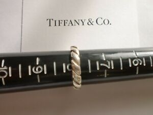 Tiffany CoAtlas groove ring in sterling silver