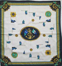 Magnífico Pañuelo OLD NAUTICAL EN BUEN ESTADO vintage bufanda