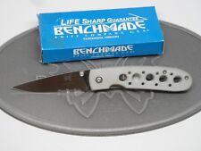 Benchmade 625S Crawford Leopard Silver Aluminum ATS-34 Liner Lock Folding Knife