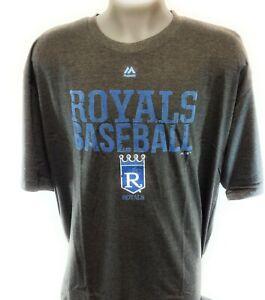 Mens Majestic MLB Kansas City Royals Cooperstown Collection Baseball Tee T-Shirt