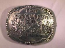 Vintage 2001 Hesston National Finals Rodeo Limited Edition Belt Buckle