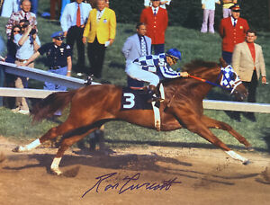 Secretariat photograph signed  11x14 Ron Turcotte autograph  Preakness Stakes