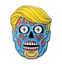 "Donald Trump They Live Alien Zombie President Anti Lapel Pin 1"" Metal Brand New"